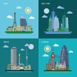 Historische und moderne Gebäude Stockfotos