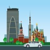 Historische und moderne Gebäude Lizenzfreies Stockfoto