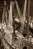Historische Vasa van het slagschip in Stockholm, Zweden Stock Afbeeldingen