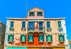 Historische venetianische Murano-Insel-Architektur Lizenzfreies Stockbild