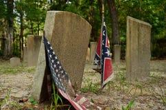 Historische verbonden begraafplaats stock foto's
