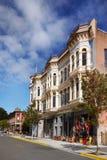 Historische Victoriaanse Gebouwen, Haven Townsend, Washington, de V.S. Stock Foto's