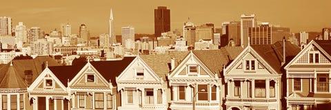 Historische viktorianische Häuser Lizenzfreie Stockfotos