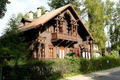Historische villa in Zakopane genoemde Grabowka III stock foto's