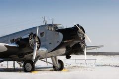 Historische vliegtuigen JU 52 Stock Foto's