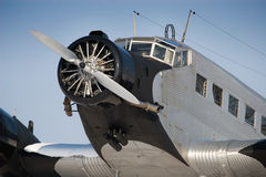 Historische vliegtuigen JU 52 Stock Foto