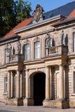 Historische voorgevel - de oude stad van Bayreuth Stock Fotografie