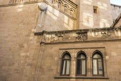 Historische voorgevel godsdienstige de bouwkathedraal in Castellon, Spanje Stock Foto's