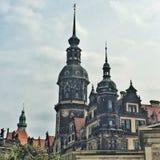 Historische Voorzijde van gebouwen Stock Afbeelding