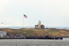 Historische Vuurtoren onder vernieuwing, Staten Island stock foto