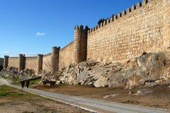 Historische Wände von Avila, Stockbilder