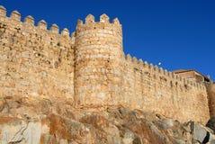Historische Wände von Avila Lizenzfreie Stockfotografie
