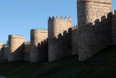 Historische Wände von Avila Stockfotos