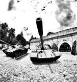 Historische Waffe Künstlerischer Blick in Schwarzweiss Stockfotografie
