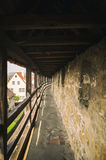 Historische Wand um Rothenburg-ob der Tauber in Germani Stockfoto