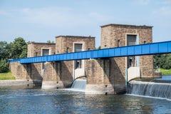 Historische waterkering Stock Foto