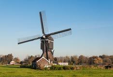 Historische watermill in Nederland royalty-vrije stock foto's