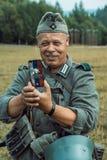 Historische wederopbouw tweede wereldoorlog De Duitse militairen zijn Royalty-vrije Stock Fotografie