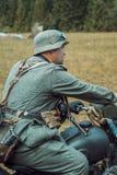 Historische wederopbouw tweede wereldoorlog Duitse militairen en Stock Afbeeldingen