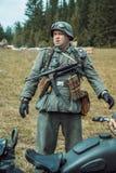 Historische wederopbouw tweede wereldoorlog Duitse militairen en Stock Foto's