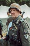 Historische wederopbouw tweede wereldoorlog Portret van Duits s Stock Fotografie