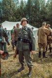 Historische wederopbouw tweede wereldoorlog Portret van Duits s Stock Afbeelding