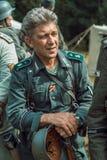 Historische wederopbouw tweede wereldoorlog Portret van Duits s Royalty-vrije Stock Foto's