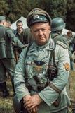 Historische wederopbouw tweede wereldoorlog Portret van Duits s Stock Foto