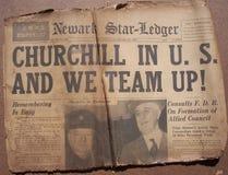 Historische Weltkrieg-Schlagzeilen Lizenzfreie Stockfotos