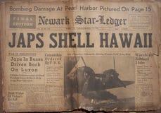 Historische Weltkrieg-Schlagzeilen lizenzfreies stockbild