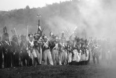 Historische Wiederinkraftsetzung Borodino 2012 Stockfotografie
