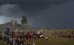 Historische Wiederinkraftsetzung a d 1615 Lizenzfreie Stockfotografie