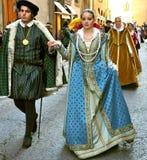 Historische Wiederinkraftsetzung in Italien Stockfotos