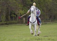 Historische Wiederinkraftsetzung von Roman Cavalry- und Infanteriesoldaten bei Northumberland, im Mai 2012 Lizenzfreie Stockfotografie