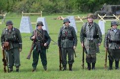 Historische Wiederinkraftsetzung von WWII Lizenzfreie Stockfotos