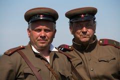 Historische Wiederinkraftsetzung von WWII in Kiew, Ukraine Lizenzfreies Stockbild