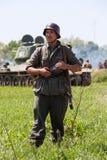 Historische Wiederinkraftsetzung von WWII in Kiew, Ukraine Lizenzfreie Stockbilder