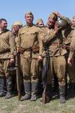 Historische Wiederinkraftsetzung von WWII in Kiew, Ukraine Stockfoto