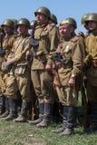 Historische Wiederinkraftsetzung von WWII in Kiew, Ukraine Lizenzfreie Stockfotografie