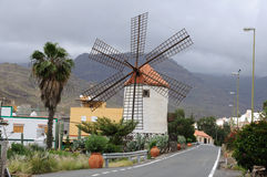 Historische Windmühle, Gran Canaria stockfoto