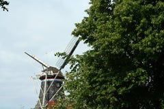 Historische windmolen DE Vriendschap in Winsum Groningen royalty-vrije stock foto's