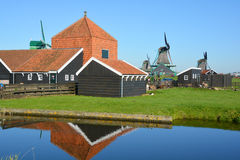 Historische windmolens Stock Foto's