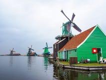 Historische windmolens in Zaanse Schans royalty-vrije stock fotografie