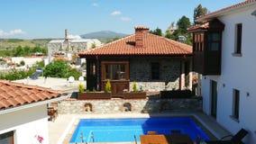 Historische Witte Huizen, Sirince-Dorp, Izmir, Turkije stock video