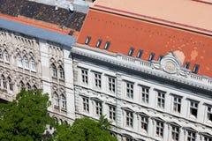 Historische Wohngebäude in Budapest Stockfotografie