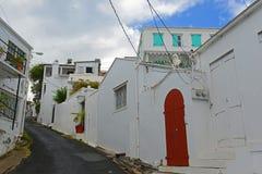 Historische woonplaats, Charlotte Amalie, de Maagdelijke Eilanden van de V.S. stock afbeeldingen
