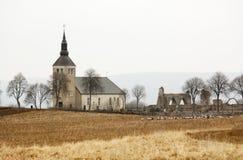 Historische Zweedse kerk Stock Afbeeldingen