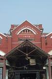 Historischer Absatzmarkt in Kolkata Stockfotos