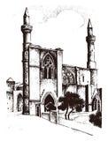 Historischer Altbau Fassade in Venedig Gotische barocke Art Alte Architektur der Straße in Italien Europäische Stadt stock abbildung