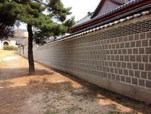Historischer alter Designhintergrund der Wand Stockfoto